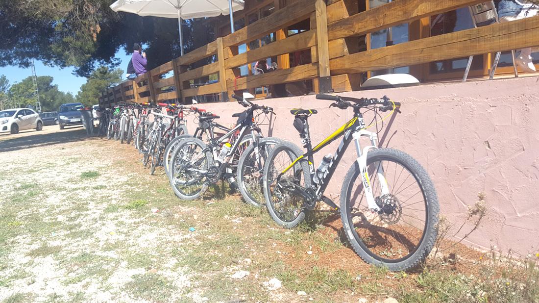 Evento Deportivo Bicis Aparcadas